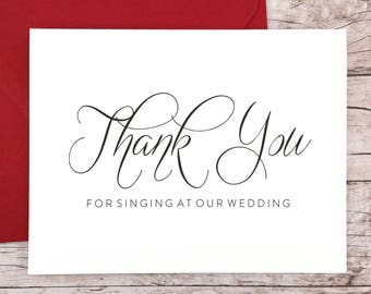 FPS0017 Thank You for the Beautiful Arrangements Card Florist Thank You Card Wedding Vendor Thank You