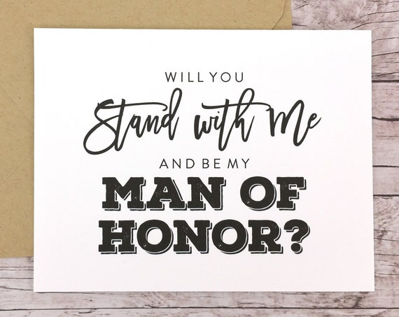 Will You Be My Man of Honor Card (FPS0067)