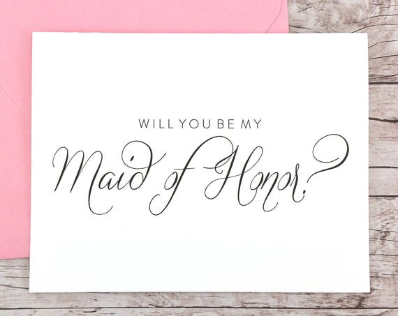 Will You Be My Maid of Honor Card (FPS0058)