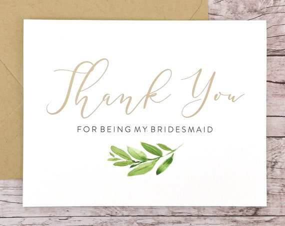 Thank You For Being My Bridesmaid Card (FPS0060)