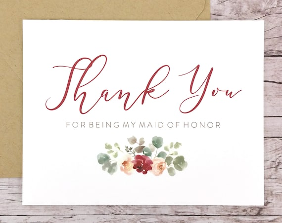 Thank You For Being My Maid of Honor Card (FPS0066)