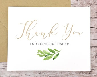 Thank You For Being Our Usher Card (FPS0060)