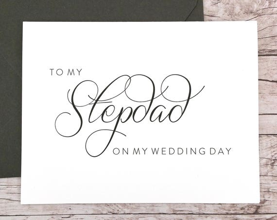 To My Stepdad On My Wedding Day Card (FPS0058)