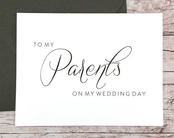 To My Parents On My Wedding Day Card (FPS0058)