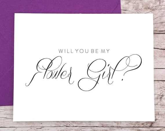 Will You Be My Flower Girl Card (FPS0058)