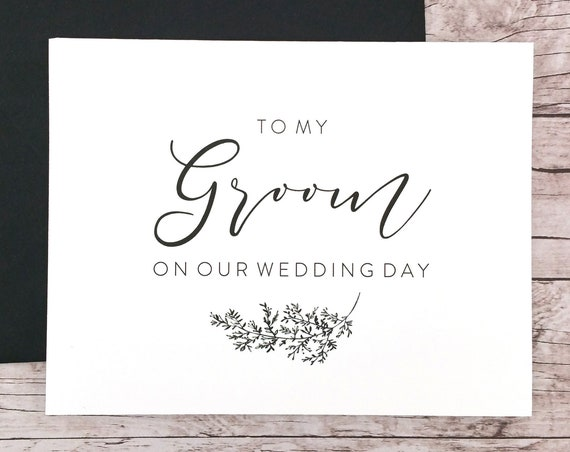 To My Groom On Our Wedding Day Card (FPS0062)