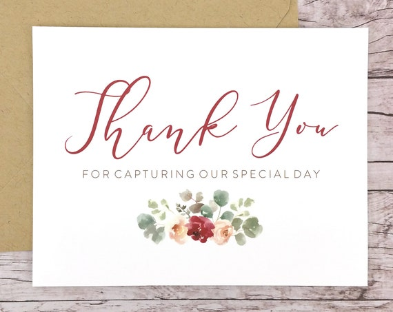 Thank You For Capturing Our Special Day Card (FPS0066)