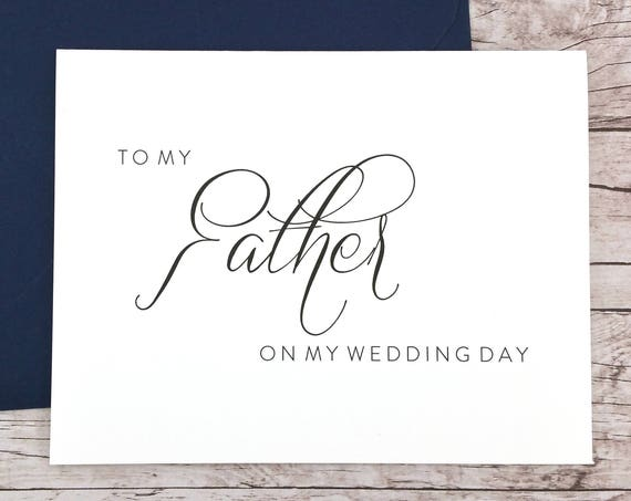 To My Father On My Wedding Day Card (FPS0058)