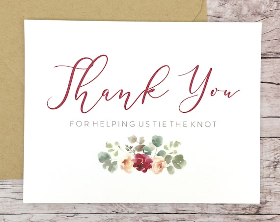Thank You For Helping Us Tie the Knot Card (FPS0066)