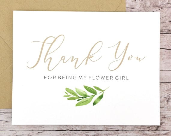 Thank You For Being My Flower Girl Card (FPS0060)