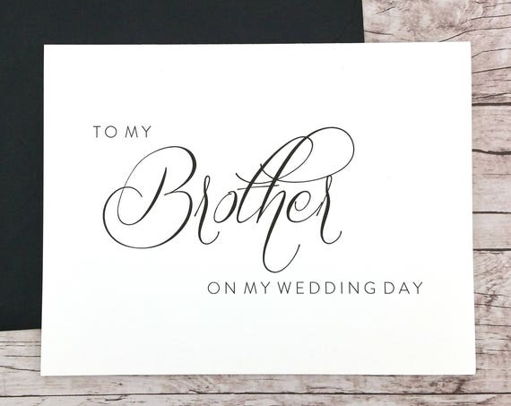 To My Brother On My Wedding Day Card (FPS0058)