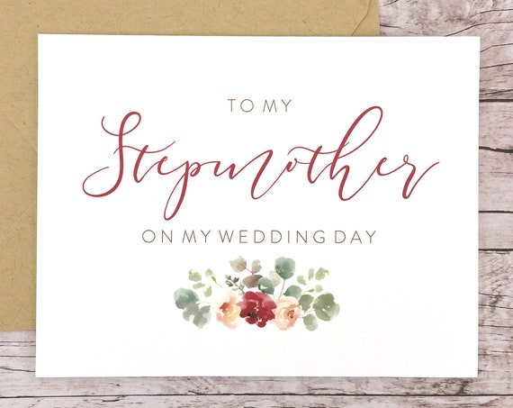 To My Stepmother On My Wedding Day Card (FPS0066)