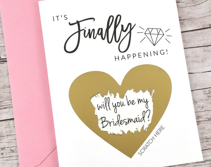 Bridesmaid Scratch Off Card (FPS00S15)