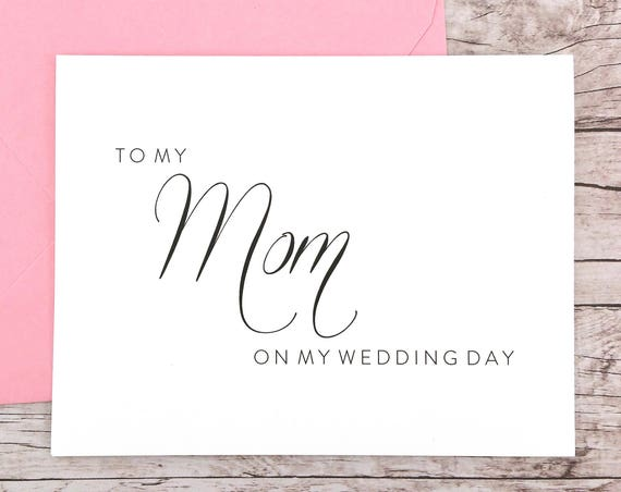 To My Mom On My Wedding Day Card (FPS0058)