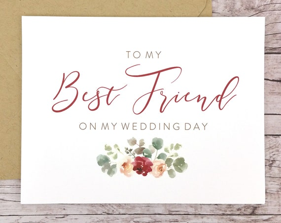 To My Best Friend On My Wedding Day Card (FPS0066)