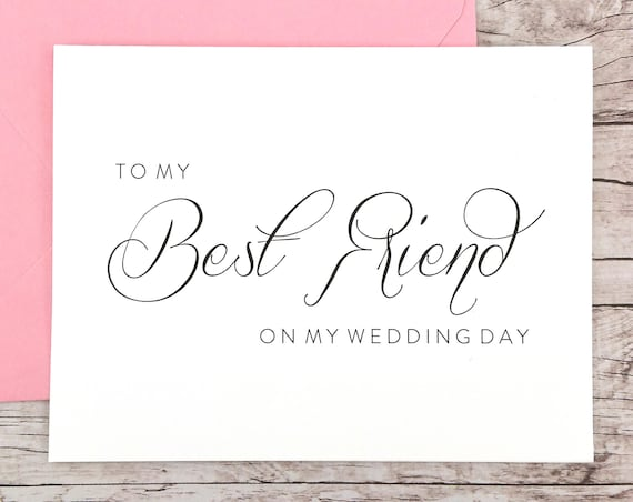 To My Best Friend On My Wedding Day Card (FPS0058)