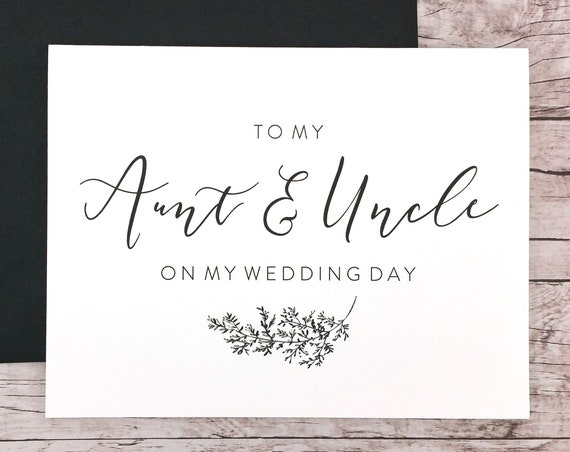 To My Aunt & Uncle On My Wedding Day Card (FPS0062)