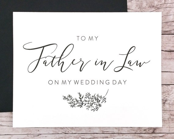 To My Father in Law On My Wedding Day Card (FPS0062)