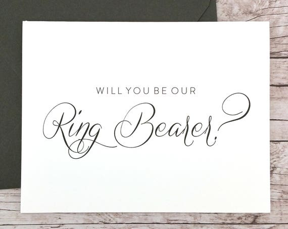 Will You Be Our Ring Bearer Card (FPS0058)