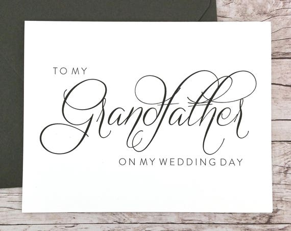 To My Grandfather On My Wedding Day Card (FPS0058)