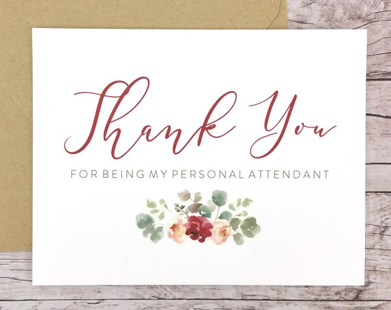 Thank You For Being My Personal Attendant Card (FPS0066)