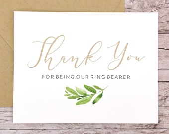 Thank You For Being Our Ring Bearer Card (FPS0060)