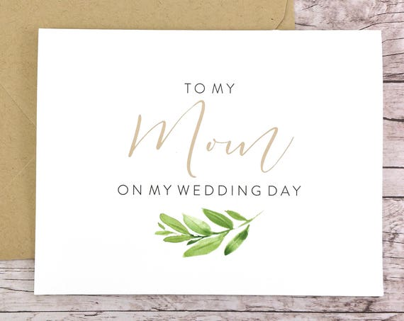 To My Mom On My Wedding Day Card (FPS0060)