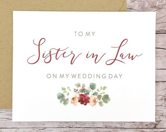 To My Sister-in-Law On My Wedding Day Card (FPS0066)