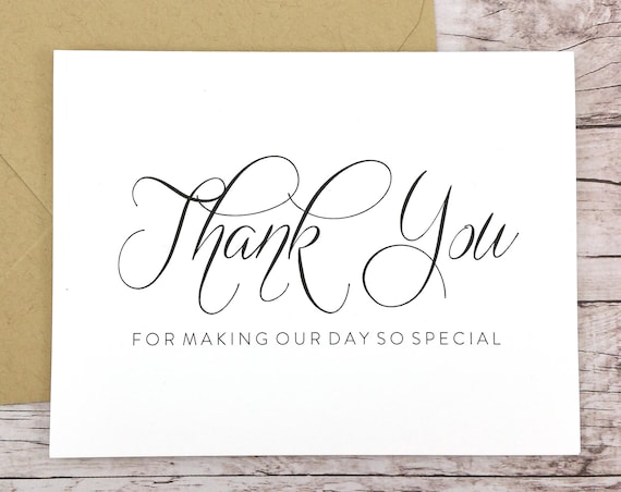 Thank You for Making Our Day So Special Card (FPS0058)