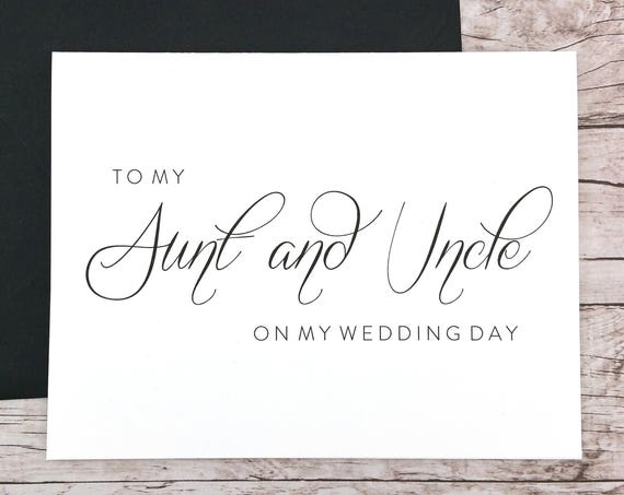 To My Aunt & Uncle On My Wedding Day Card (FPS0058)
