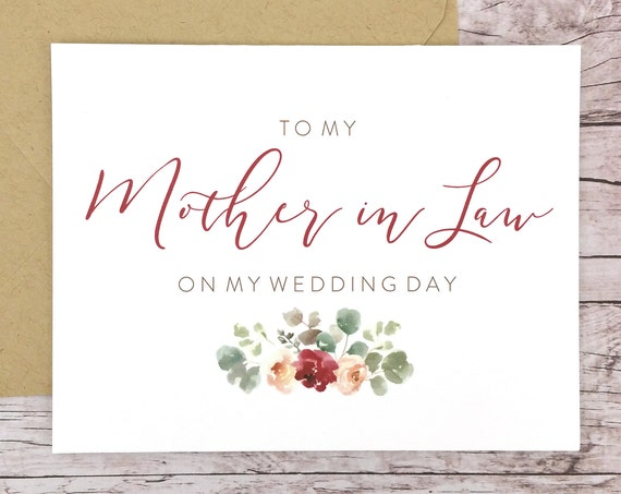 To My Mother-in-Law On My Wedding Day Card (FPS0066)