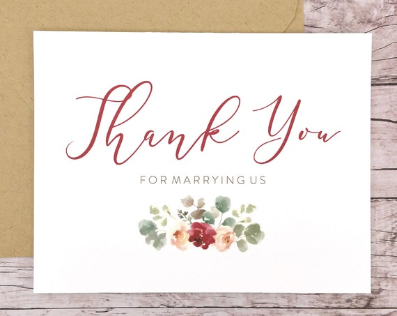 Thank You For Marrying Us Card (FPS0066)