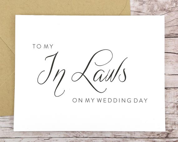 To My In Laws On My Wedding Day Card (FPS0058)
