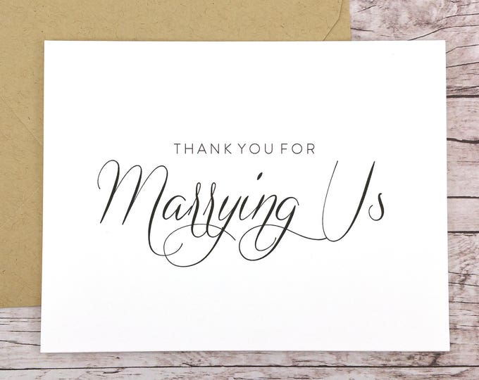 Thank You For Marrying Us Card (FPS0058)