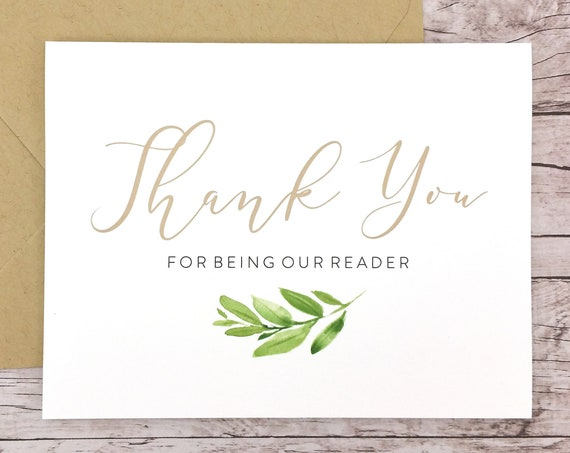 Thank You For Being Our Reader Card (FPS0060)