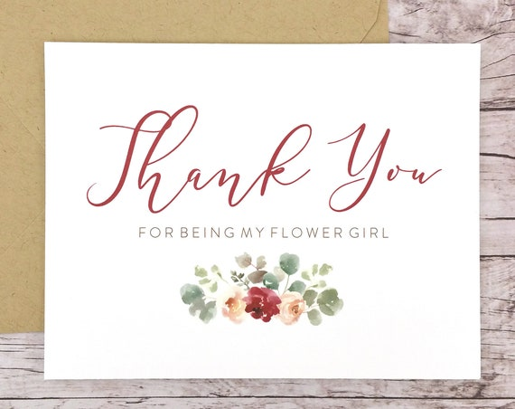 Thank You For Being My Flower Girl Card (FPS0066)