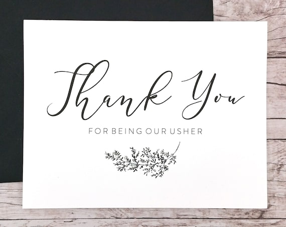 Thank You For Being Our Usher Card (FPS0062)