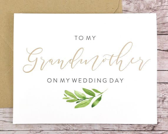 To My Grandmother On My Wedding Day Card (FPS0060)