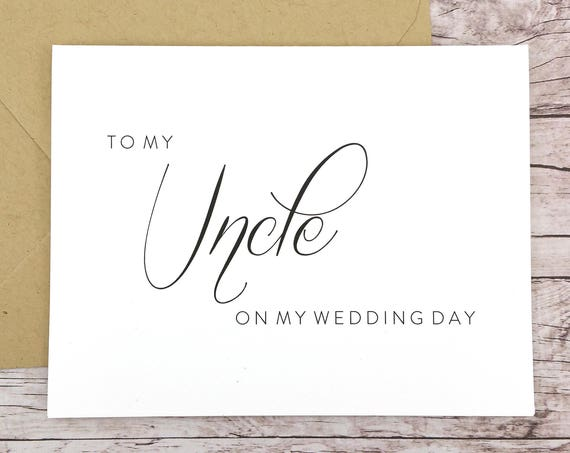 To My Uncle On My Wedding Day Card (FPS0058)