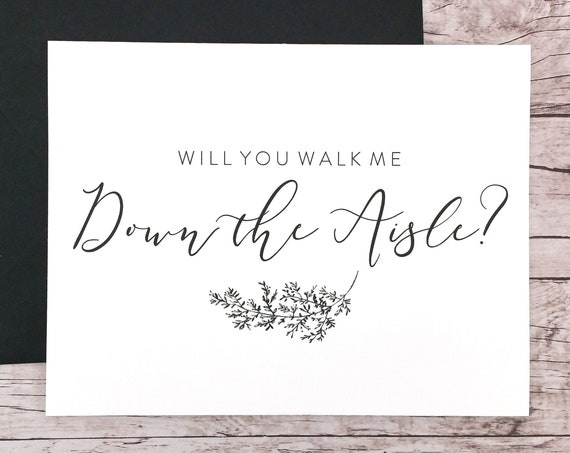 Will You Walk Me Down the Aisle Card (FPS0062)