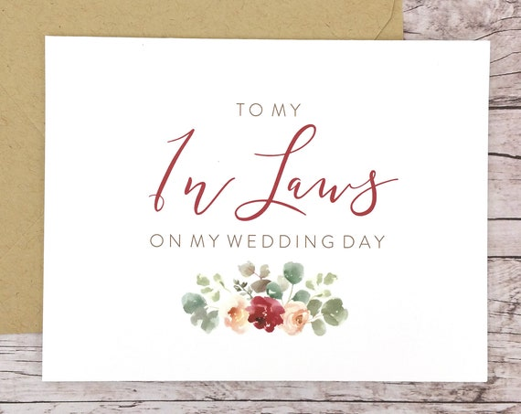 To My In Laws On My Wedding Day Card (FPS0066)