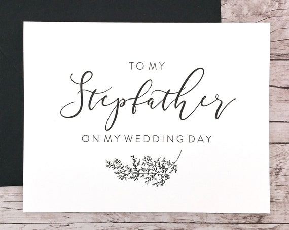 To My Stepfather On My Wedding Day Card (FPS0062)