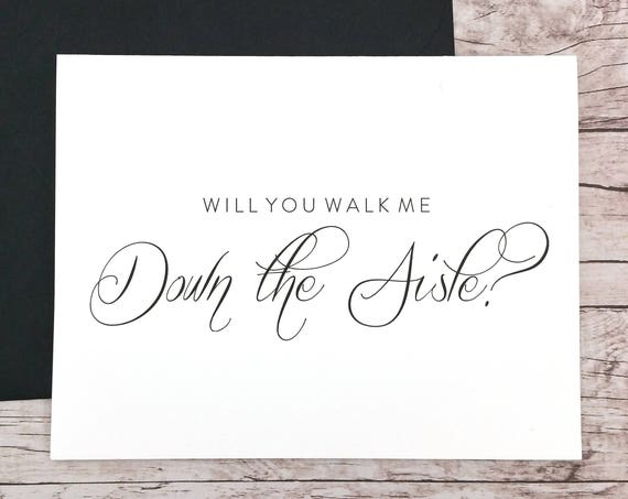 Will You Walk Me Down the Aisle Card (FPS0058)