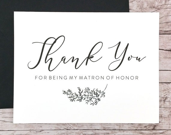 Thank You For Being My Matron of Honor Card (FPS0062)
