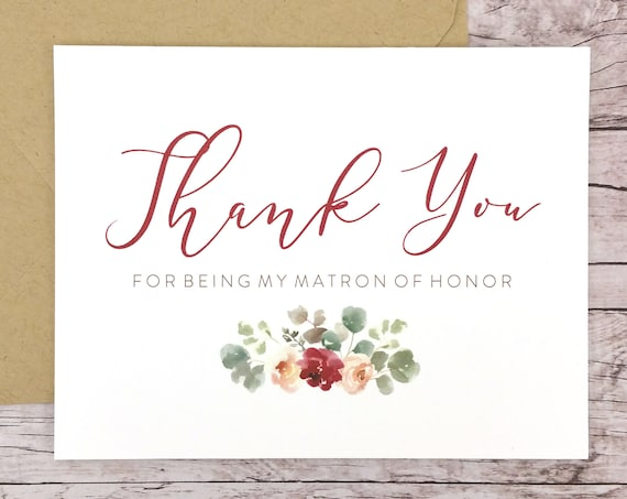 Thank You For Being My Matron of Honor Card (FPS0066)