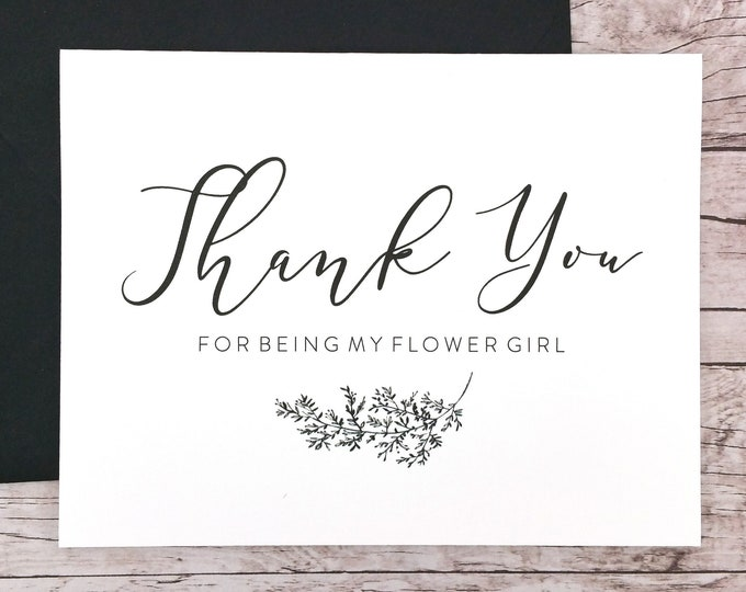 Thank You For Being My Flower Girl Card (FPS0062)