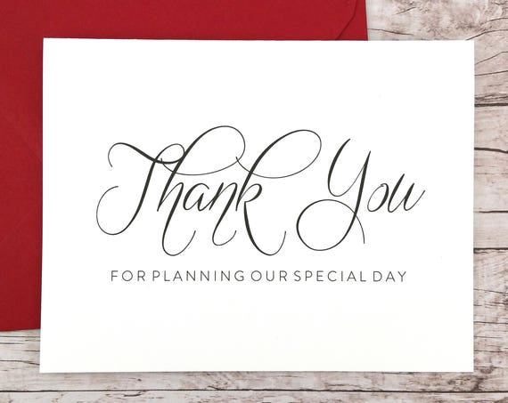 Thank You For Planning Our Special Day Card (FPS0058)