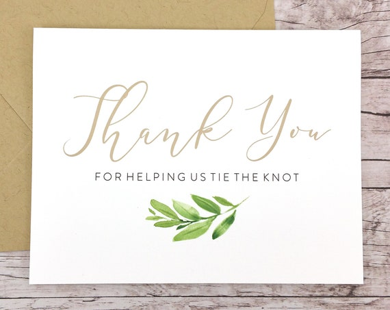 Thank You For Helping Us Tie the Knot Card (FPS0060)