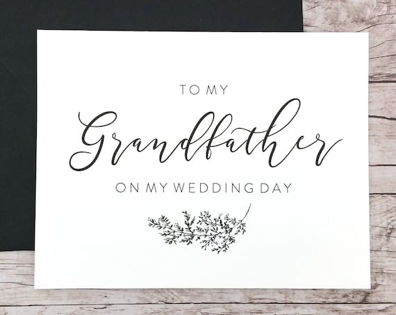 To My Grandfather On My Wedding Day Card (FPS0062)