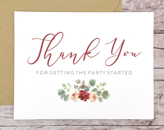 Thank You for Getting the Party Started Card (FPS0066)